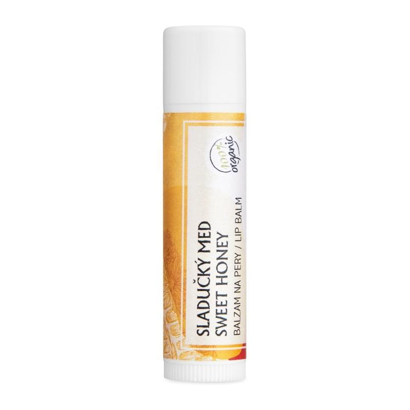 Sladučký med - organický balzam na pery