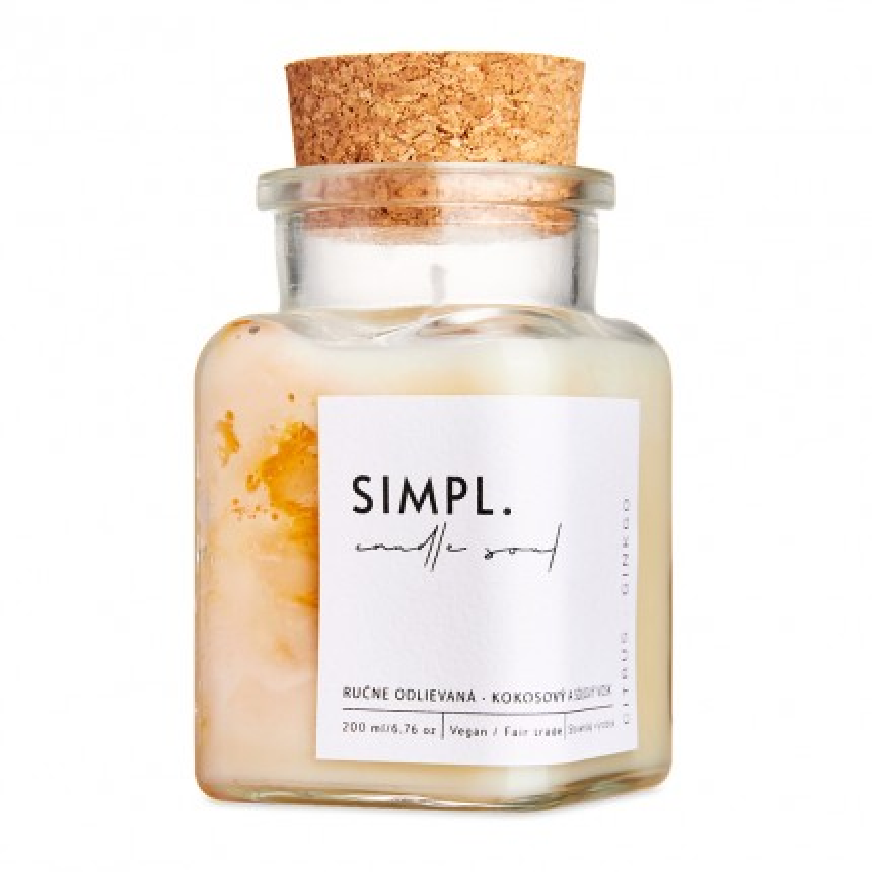 SIMPL. candle soul - eko sviečka citrus a ginko