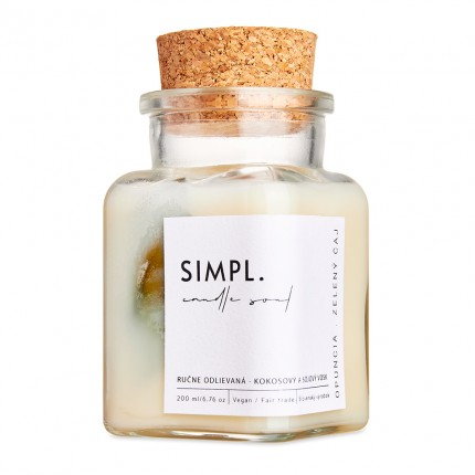 SIMPL. Candle Soul - Eco Candle Prickly Pear & Green Tea