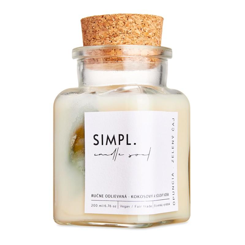 SIMPL. candle soul - eko sviečka opuncia a zelený čaj