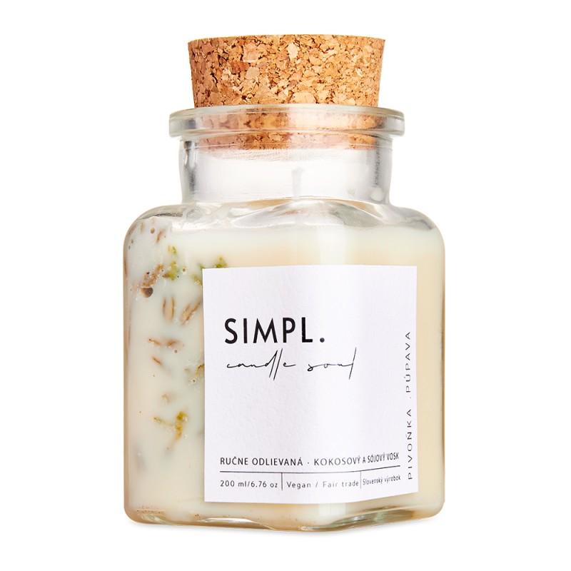 SIMPL. Candle Soul - Eco Candle Peony & Dandelion